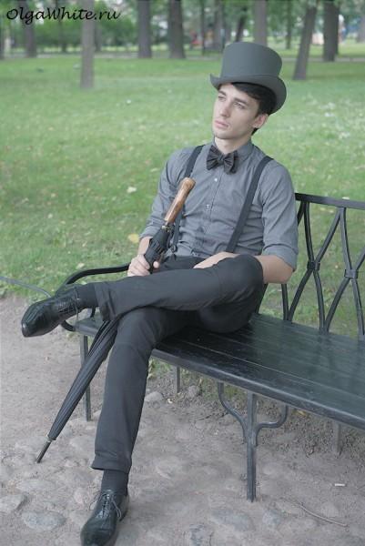 Цилиндр мужской - фетровая шляпа купить