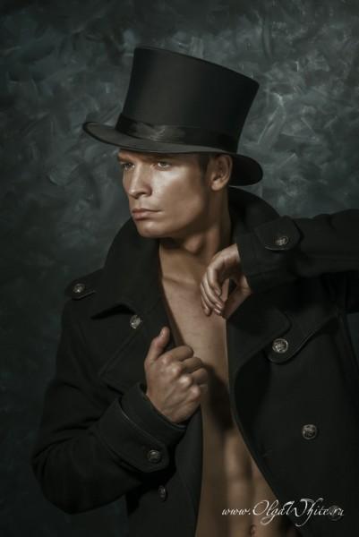 Шелковый/атласный мужской цилиндр - купить шляпу в интернет-магазине