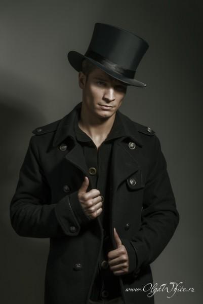 Шляпа цилиндр атласный/шелковый мужской-купить в интернет-магазине шляп