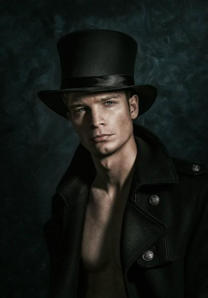 Атласный цилиндр-мужская шляпа. Купить в интернет-магазине