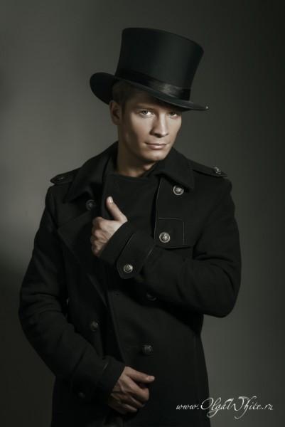 Шляпа цилиндр атласный/шелковый мужской с блеском купить в интернет-магазин шляп