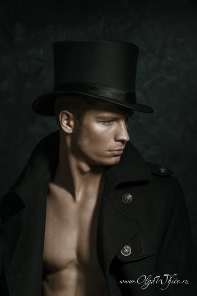 Шляпа-цилиндр атласный/шелковый мужской купить в интернет-магазине