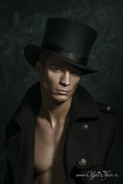 Шляпа-цилиндр шелковый/атласный мужской - купить в интернет-магазине шляп
