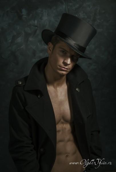 Шляпа цилиндр мужской атласный купить в интернет-магазине