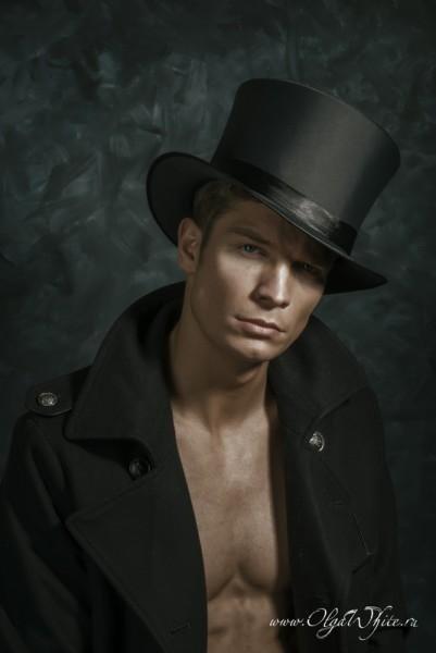 Шляпа цилиндр атласный мужской - купить в интернет-магазине шляп