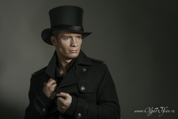Шляпа цилиндр мужской шелковый, атласный купить в интернет-магазине
