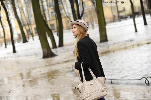 Бежевая фетровая шляпа - купить в интернет-магазине. Фото на девушке стритстайл