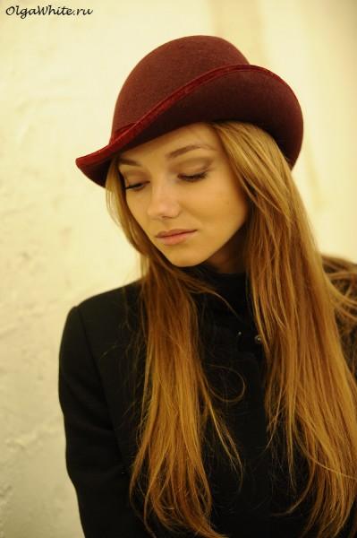 Бордовая шляпа с полями. С чем носить. Купить в интернет-магазине шляп Спб