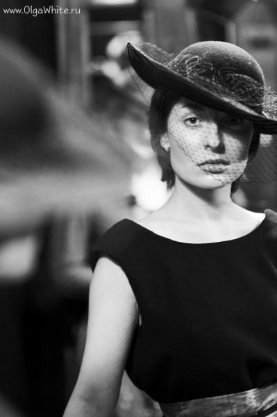 Черная фетровая вечерняя широкополая шляпа в стиле ретро (винтаж) Купить или заказать в интернет-магазине шляп