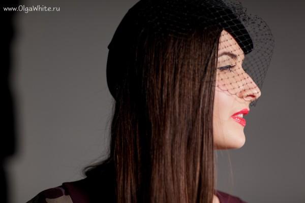 Черная шляпка-пилотка с вуалью - купить в интернет-магазине