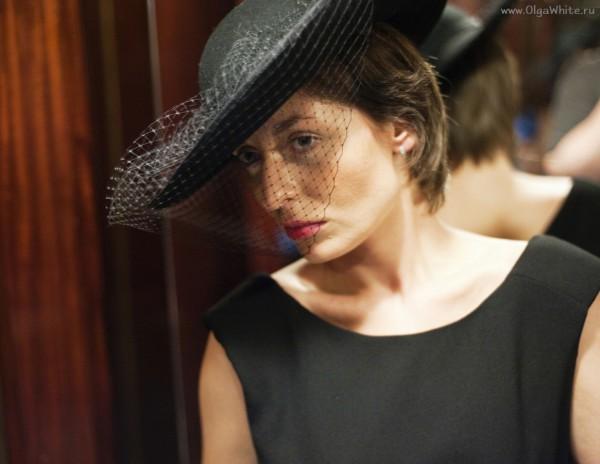 Широкополая фетровая шляпа с вуалью. Женственная шляпка Астория</p><p>