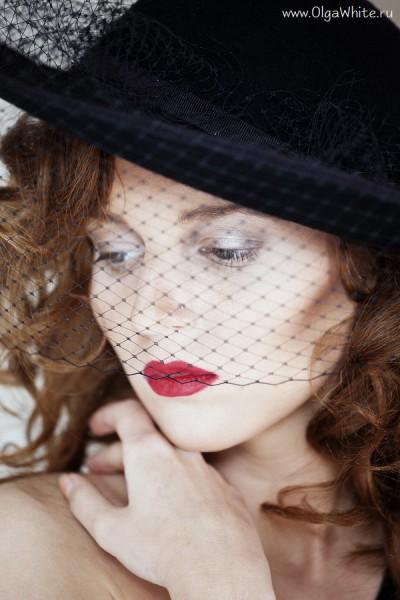Широкополая черная шляпа с вуалью винтаж - купить в интернет-магазине шляп