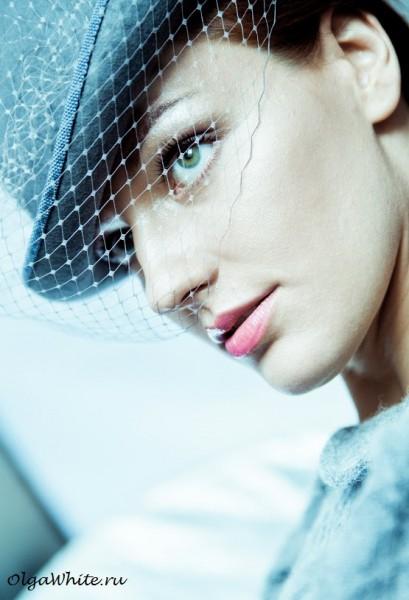 Шляпа котелок женский купить серый с вуалью