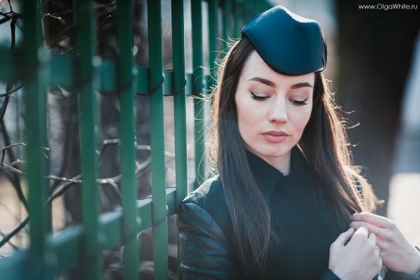 Шляпка пилотка фетровая фетр синяя купить заказать в интернет магазине