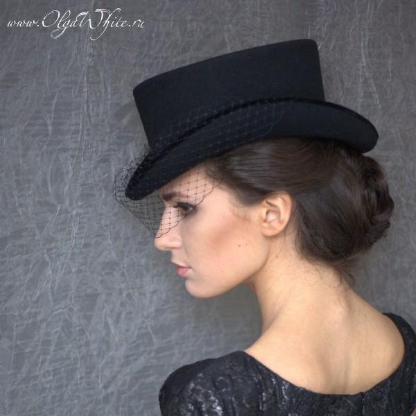 Шляпка для верховой езды - цилиндр укороченный. Амазонка в английском стиле. Купить в интернет-магазине
