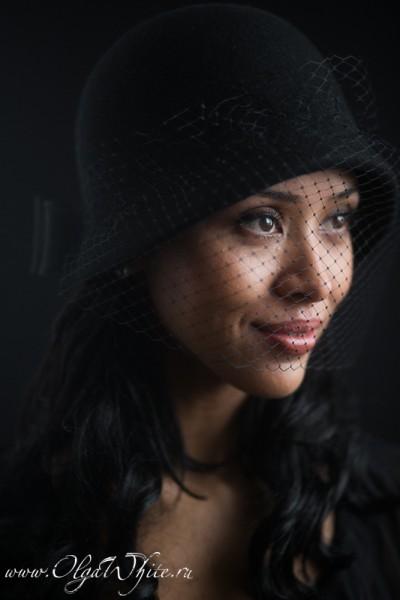 Черная фетровая шляпка-клош с вуалью. Элегантная шляпка в стиле двадцатых. Купить в интернет-магазине шляп в Спб