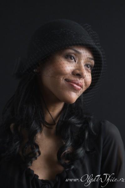 Черная шляпка-клош с бантом и вуалью. Купить в интернет-магазине шляп в Спб