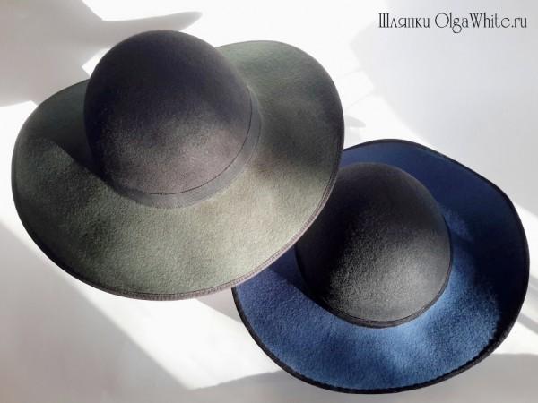 Синяя фетровая шляпа купить интернет-магазине зеленая шляпа Спб Мск