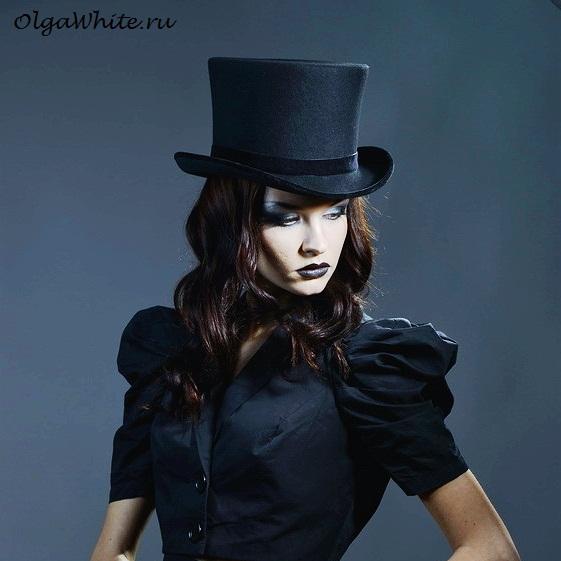 Цилиндр шляпа женская купить спб Черный цилиндр