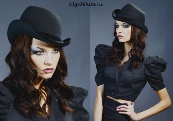 Фетровая шляпка Анна Каренина черная купить</p><p>