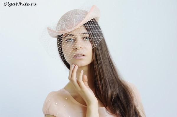 Котелок летняя шляпа купить Женский котелок свадебный с вуалью