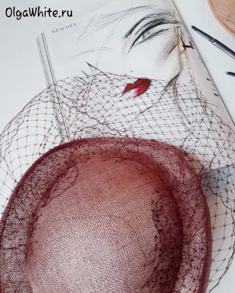Летняя шляпка женская котелок розовая бордовая купить