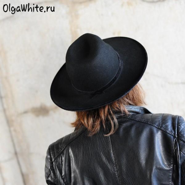 Широкополая шляпа мужская черная фетровая купить спб мск