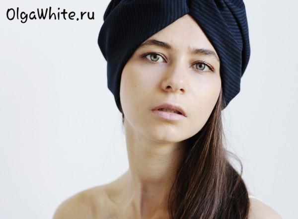 Тюрбан чалма купить Спб в интернет-магазине темно-синий тюрбан в полоску