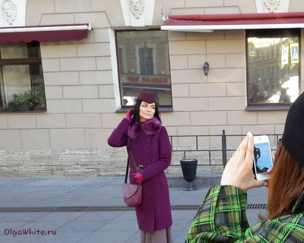 Женская фетровая бордовая шляпа пилотка купить