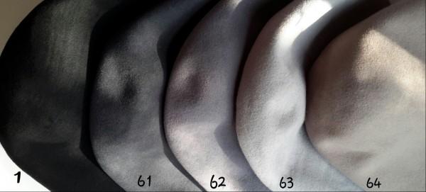 Серые цвета для фетровых шляп