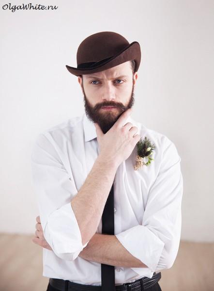 Шляпа котелок купить мужской коричневый в интернет-магазине Спб