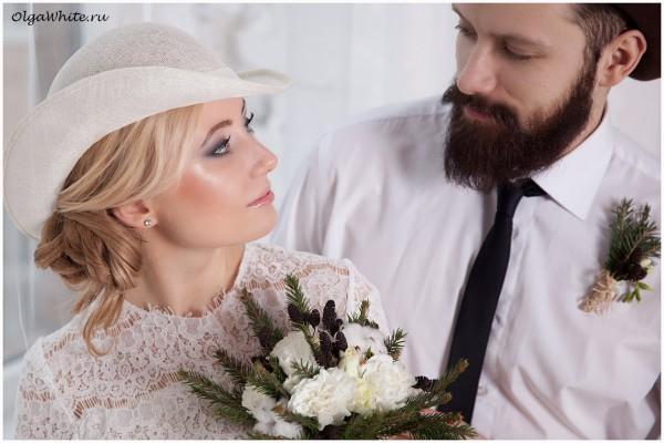 Свадебная шляпка купить легкая летняя (белая или айвори) шляпка с полями и шляпа котелок для жениха
