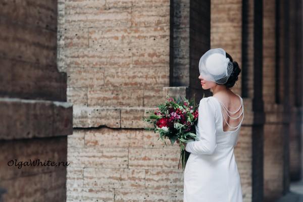 Свадебная шляпка с вуалью купить в Спб шляпка таблетка