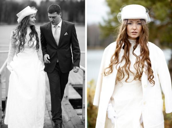 Укороченный свадебный белый цилиндр с вуалю шляпа на невесте